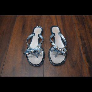 Valentino Blue Rockstud PVC Sandals 39/8